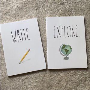 Rae Dunn 2 pack writing notebooks